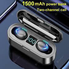 <b>F9</b>-7 <b>tws With Power</b> Display Touch Wireless 5.0 Binaural ...