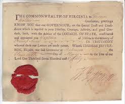 out of the box thomas jefferson commission of thomas walker signed by jefferson 11 1779