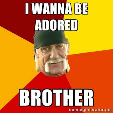 I Wanna Be Adored Brother - Hulk Hogan | Meme Generator via Relatably.com
