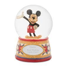 Jim Shore <b>Disney</b> Traditions <b>Mickey Mouse Snow</b> Globe