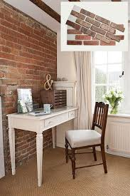 brick walls 20 easy ways to get old house charm this old house charming office craft home wall