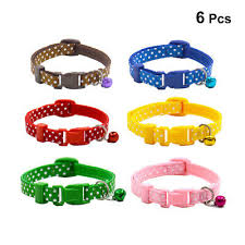 <b>6pcs/set Cute Kawaii</b> Polka Dot Pet Collar Cat Collar Collars ...