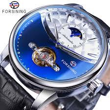 <b>Forsining</b> Classic Blue Moon Phase <b>Mechanical</b> Watches Automatic ...