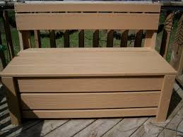 deck box add functional storage benches outdoor plans simple home decoration