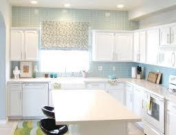 blue modern kitchen backsplash