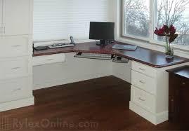 white lacquer corner home desk with mahogany built corner desk home