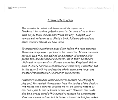 essays on rticism in frankenstein  coursework writing service