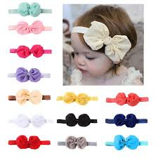<b>10pcs Different Colors</b> Baby Girl Newborn Chiffon Bowknot ...