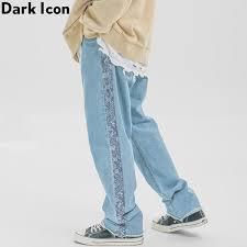 2019 <b>Dark Icon Side Bandana</b> Stripe Jeans Men Hi End Fashion ...