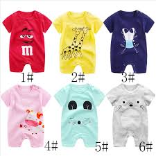 sumnmer Short sleeve <b>baby</b> romper <b>newborn Cartoon</b> elephant ...
