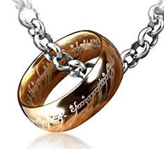 Lord of The Rings <b>One</b> Ring, <b>Titanium Steel</b> Ring with Chain, <b>One</b> ...