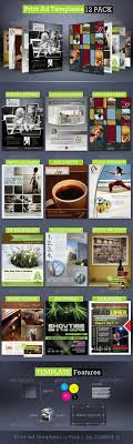 print ad templates pack full page magazine ads psd on behance