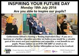 calderstones school on twitter our inspiring your future day calderstones school on twitter our inspiring your future day is this monday we cannot wait here at calderstones school t co kexgsoksfj