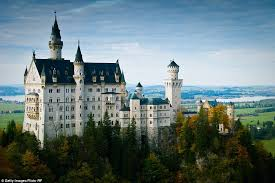 Set In The Middle Of A Lush Forest Is Picturesque Neuschwanstein Castle Germany