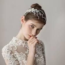 <b>SLBRIDAL Handmade Wired</b> Rhinestones Crystal Pearls Flower ...