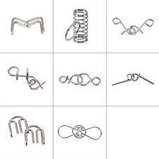 <b>8Pcs</b>/Set IQ Test Puzzle Brain Teaser Metal Wire Puzzles Mind ...