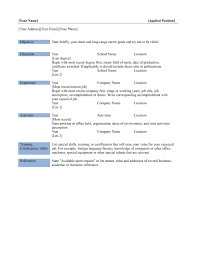resume templates 85 in pdf word excel for simple 85 surprising simple resume templates