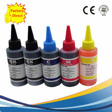 <b>5</b> x <b>100ML Refill Dye Ink</b> Kit For Epson Canon HP Brother Lexmark ...