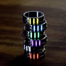 1PC Titanium Alloy 16 18 <b>20 22mm</b> Man Women Ring Luminous ...