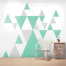 Geometric <b>Pattern</b> Giant Wall <b>Sticker</b> Set | Geometric wall paint, Wall ...