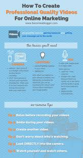 how to create professional videos for you blog professional videos infographic