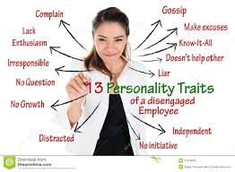 personality traits royalty stock photo image  personality traits of disengaged employee royalty stock image