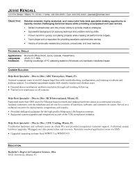 example help desk specialist resume samplesample resume
