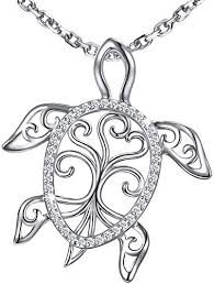 <b>MANBU 925</b> Sterling Silver Charm Sea Turtle Unique Tree of Life ...