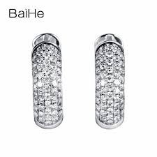 baihe solid 14k tricolor gold 0 1ct certified h si 100 genuine natural diamonds anniversary women trendy fine jewelry bracelet