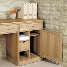 baumhaus mobel solid oak large hidden office twin pedestal desk cor06d baumhaus mobel solid oak