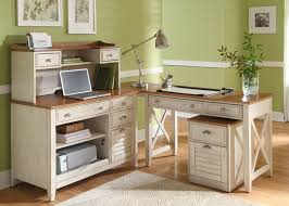 excellent letter l shaped pine desks for home office which has plain white color and light brown surface completed with silver metallic corner desk lamp awesome pine desks home office