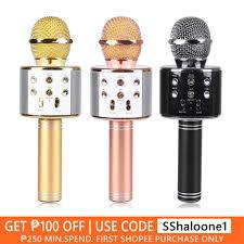 <b>WS858 Portable Karaoke Microphone</b> & Bluetooth Speaker ...