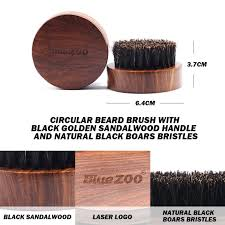 1pc Mini <b>Beard</b> Brush <b>Boar</b> Bristles Mustache Natural Wood Comb ...