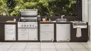 standing rectangular outdoor kitchen