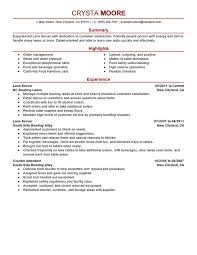 unforgettable lane server resume examples to stand out    lane server resume sample