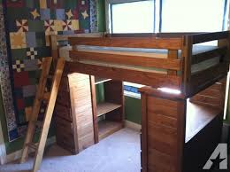 solid wood bunk bed with desk and chest of drawers bunk beds desk drawers