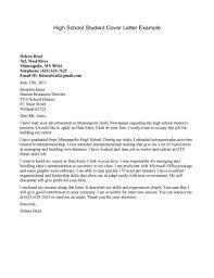 school secretary cover letter resume badak high school student cover letter