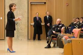 u s department of defense photo essay carol folt university of north carolina at chapel hill chancellor introduces army gen
