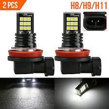 <b>2PCS</b> CREE <b>H8</b> H11 H9 Fog Light 6000K White <b>Super</b> Bright LED ...