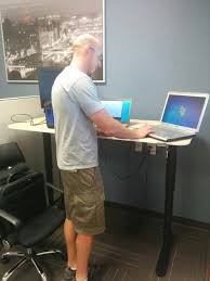 its like we are running nasa bekant desk sit stand ikea