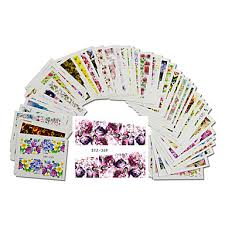 <b>48pcs</b>-<b>set</b>-fashion-mixed-beautiful-flower-designs-<b>nail</b>-<b>art</b>-water ...
