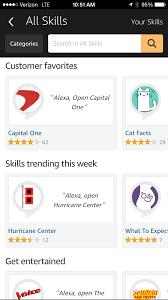 analyzing alexa skills during a hurricane a cloud guru screenshot of amazon alexa app on 8th