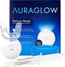 AuraGlow Teeth Whitening Kit, LED Light, 35 ... - Amazon.com