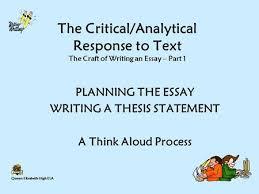 queen elizabeth high ela the criticalanalytical response to text  queen elizabeth high ela the criticalanalytical response to text the craft of writing an