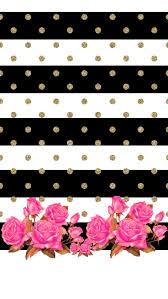 screen background image handy living: lnr quotdont really like the roses at the bottombut you can zoom in and just make it gold polk a dots on black and white backgroundquot
