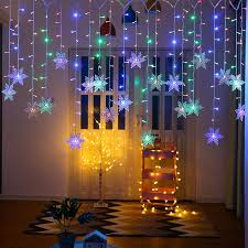2.5m Outdoor Waterproof String Light 8 Flash Modes <b>Snow Curtain</b> ...