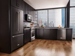 black and stainless kitchen black stainless is a new finish being offered currently by kitchenaid samsung and lg appliances with some small blackstainless kitchenaid