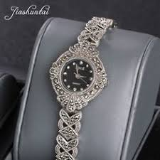 <b>JIASHUNTAI Retro 100</b>% <b>925</b> Sterling Silver Watch For Women ...