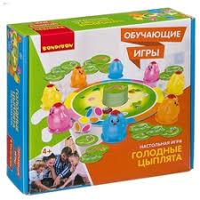 «<b>Настольная игра Bondibon</b> Голодные цыплята <b>Обучающая</b> ...