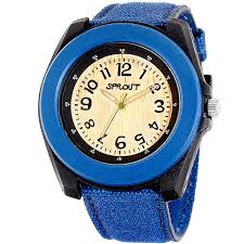 Sprout Eco-Friendly <b>Corn</b> Resin and Blue Organic Cotton <b>Strap Watch</b>